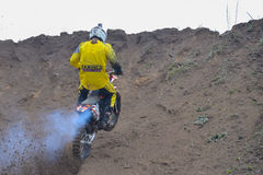 A shot of a motocross rider during a race Royalty Free Stock Photography