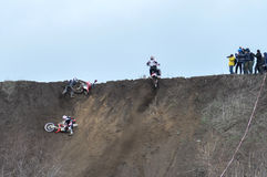 A shot of a motocross rider during a race Stock Image