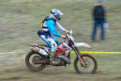 A shot of a motocross rider during a race Royalty Free Stock Photo