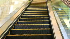 Shot of moving escalator in Dubai, United Arab Emirates stock video