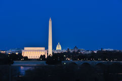 Shot of the National Mall at Dusk royalty free stock photo
