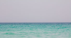 A shot of the ocean at Jumeirah beach in Dubai, UAE.  Stock Photo