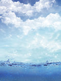 Shot Of Water Splash Against A Tropical Sky Royalty Free Stock Photography