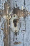 Old rusty keyhole in a close-up royalty free stock images