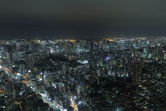 A shot from one of the high rises building in Tokyo Stock Image