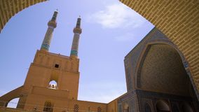 A shot of the Jameh Mosque stock footage