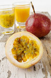 Shot of passionfruit Royalty Free Stock Photo