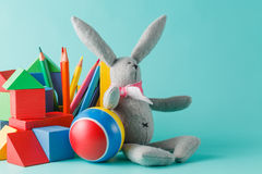 Shot of pile of various toys and figurines Royalty Free Stock Photography