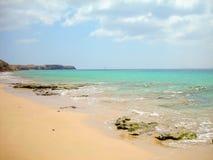 The Playa Mujeres. Shot of a Playa Mujeres in Playa Blanca, Lanzarote canary spain Royalty Free Stock Image