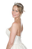 Shot of a Pretty Blonde Bride Stock Photo