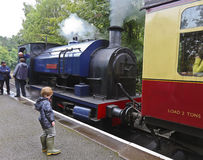 A Shot of the Princess Steam Train. Newby Bridge, England - July 24: The Princess on July 24, 2012, in Newby Bridge, Cumbria, England. The Lakeside and stock image
