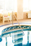 Shot of private swimming pool Royalty Free Stock Photos