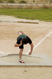 Shot put 1. A competitor in the men's shot put event during a college track meet Stock Images