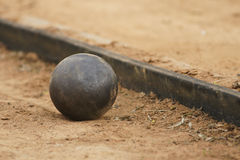 Shot put. On athletic field Royalty Free Stock Photos