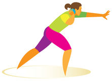 Shot put. Athlete is Woman. A strong and tall woman is the Shot putter Royalty Free Stock Photos