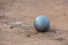 Shot put. On athletic field Stock Photography