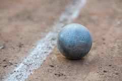 Shot put. On athletic field Royalty Free Stock Images