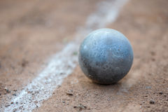 Shot put. On athletic field Royalty Free Stock Photography