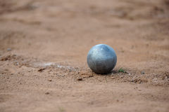 Shot put. On athletic field Royalty Free Stock Photo