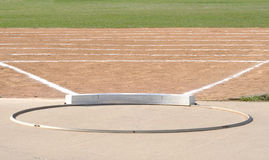 Shot Put Circle and Field. Shot Put Ring and Field with Chalk Lines Royalty Free Stock Photos