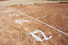 Shot put field 2 Royalty Free Stock Images