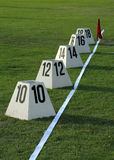 Shot Put Field. Ready to be used Stock Photography
