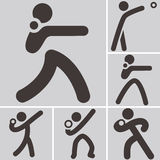 Shot put icons Stock Photo