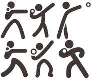 Shot put icons. Summer sports icons set - shot put icons Stock Images