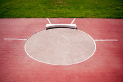 Shot put ring. And field Royalty Free Stock Photography