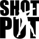 Shot put word with cutout. Vector Stock Photos