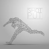 Shot putter gray Royalty Free Stock Image