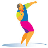 Shot putter. Shot puter is strong and tall sportsman Stock Photos