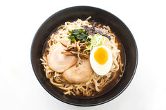 Shot ramen isolated in studio Royalty Free Stock Images