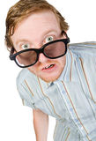 Shot of a Red Headed Geek Royalty Free Stock Photos