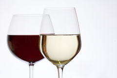 Shot of red and white wine. Stock Photo