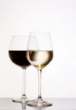 Shot of red and white wine. Royalty Free Stock Photos