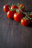 Shot of ripe tomatoes at the table Stock Images