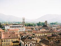Overview of the City of Lucca stock photography