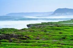 Laomei Green Reef - Taiwan North Coast seasonal features, shot in Shimen District, New Taipei, Taiwan. Shot in Shimen District, New Taipei, Taiwan royalty free stock image
