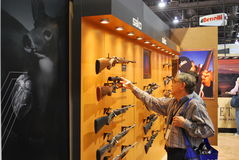SHOT Show Las Vegas. SHOT (Shooting, Hunting and Outdoor Trade) Show in Las Vegas, Nevada, USA stock image