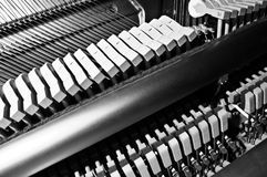 Internal Piano Workings. Shot showing the internal workings of a piano Royalty Free Stock Photo