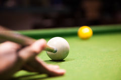 A shot in a single strike Stock Images