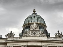 Details of the Hofburg palace in Vienna city center stock image
