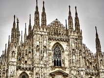 Shot of the Dome of Milan royalty free stock photo