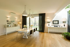 Dining room with class Stock Photography