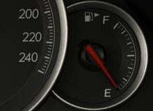Shot of a speedometer in a car. Stock Image