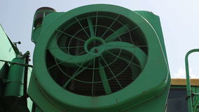 Shot of spinning harvester fan stock video