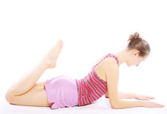 Shot of a sporty young woman doing yoga exercise. Stock Photography