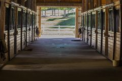 SHOT OF STABLES. Nice shot of horse stables Stock Images