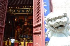 Statue of buddha,monk & sacred animal stock images